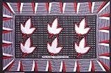 カンガ アフリカの布 葉っぱ柄 『人生の教訓』 (赤×黒) le-10