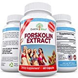 Pure Forskolin Extract High Strength 250 mg Standardized to 20% - Coleus Forskohlii Best Weight Loss Supplement for Melting Your Belly Fat Fast - Recommended Fat Burner and Metabolism Booster - All Natural Dietary Tablets - No Side Effects - 100% MoneyBack Guarantee