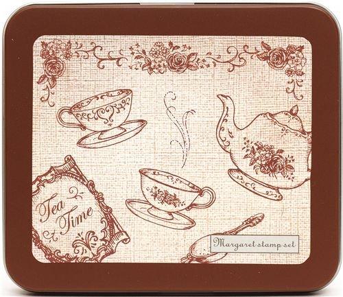 beautiful stamp set tea service flowers