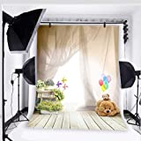 Fantasy Ballon Bear Photography backdrops for Baby Photo Studio Props Children Background Vinyl 5x7ft 4015 (Color: Daniu-4015-background)