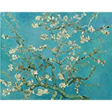 Tallenge Old Masters Collection - Almond Branches In Bloom By Vincent Van Gogh - Premium Quality Rolled Canvas...
