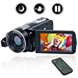 Camcorder Video Camera Full HD Digital camera 1080P 24.0MP Vlogging Camera Night Vision camcorders with Remote Controller (Color: C1)