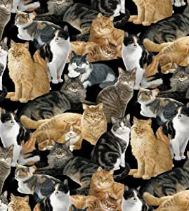 Cats Allover Anti-Pill Fleece by Wild Wings