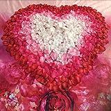 Generic White Pink : 100pcs/pack Simulation Silk Flower Wedding Decoration Flower Valentine' S Party Rose Petals...