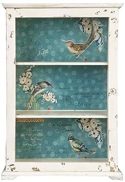Clayre & Eef 5H0045 del armario de madera de coloures y de alrededor de 47 x 21 x 69 cm