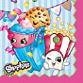 Shopkins Birthday Party Supply Set for 16: Dinner Plates, Dessert Plate, & Napkins