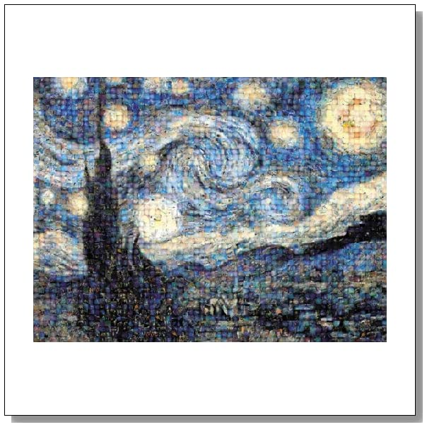 Buffalo Games Photomosaic, The Starry Night - 1000pc Jigsaw Puzzle