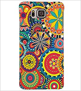 PrintDhaba Pattern D-5139 Back Case Cover for SAMSUNG GALAXY ALPHA (Multi-Coloured)
