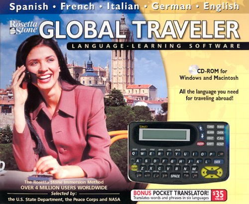 Rosetta Stone Global Traveler (Spanish French German Italian English & Pocket Translator