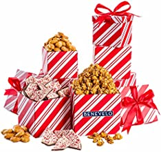 Merry Christmas Happy Holiday Gourmet Christmas Nuts and Chocolate Celebration Gift Tower