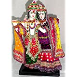 Paras Magic Marble Radha Krishna RK1 Idol (Standard,Multicolor)