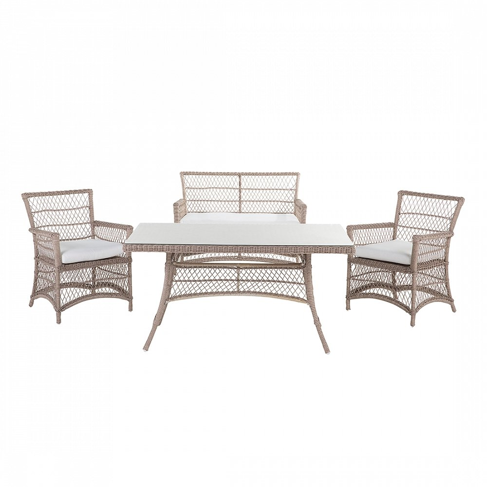 Gartenmöbel aus Rattan – Balkonmöbel – Rattanset – BARLETTA günstig bestellen