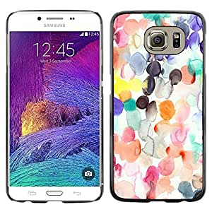 Omega Covers - Snap on Hard Back Case Cover Shell FOR Samsung Galaxy S6 - Watercolor Spots Pastel Abstract Kids Art