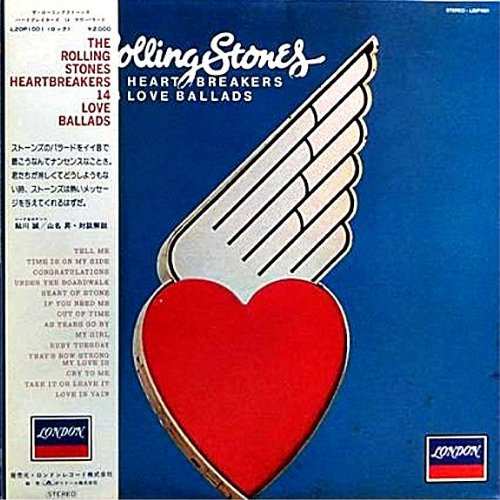 Heartbreakers - 14 Love Ballads - Japanese pressing with Obi strip by Rolling Stones, Mick Jagger, Keith Richards, Charlie Watts and Bill Wyman