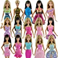 Yiding 5pcs Fashion Mini Dress For Barbie Doll Handmade Short Party Gown Clothes