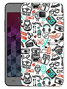 """Humor Gang Hand Drawn Doodle Art PrintPrinted Designer Mobile Back Cover For """"Samsung Galaxy A8"""" (3D, Matte, Premium Quality Snap On Case)..."""