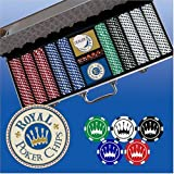 500 pc Poker Chip Set Original Royal Crown Design