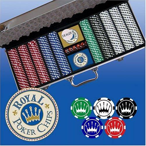 500 pc Poker Chip Set Original Royal Crown Design
