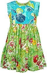 Euphoria Girls' Dress (SKU291F, Multi-Coloured, 4-5 Years)