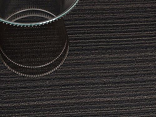 Chilewich Skinny Stripe Doormat, 18 By 28-Inch, Steel front-456853