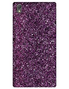 Purple Glitter case for Sony Xperia T3