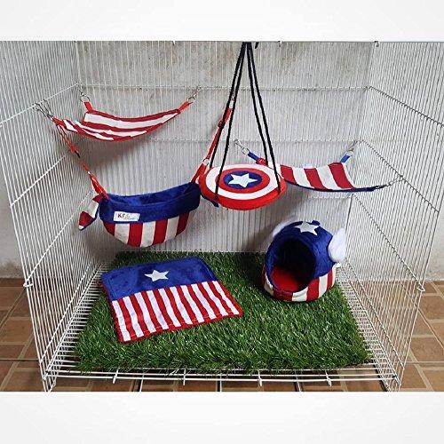 6 piece KPS Sugar Glider Cage Set Captain