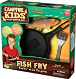 """The Campfire Kids Fish Fry set brings the great outdoors ... indoors. For hungry Campfire Kids, nothing hits the spot better than a hearty trout dinner fried up in a pan. This set gives indoor campers everything they need to cook a fishy feast. Features realistic """"fresh caught"""" trout, rustic plastic skillet with a """"cast iron"""" feel, and camper's spatula. Campfire Sold Separately. Ages 3 and up."""