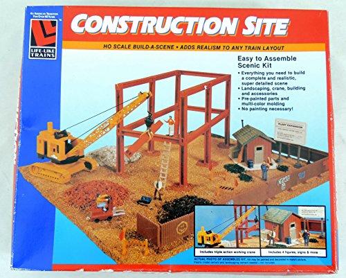 Life-Like Trains Construction Site HO Scale Build-A-Scene 1375