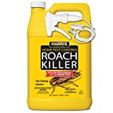 Harris Roach Killer, Liquid Spray with Odorless and Non-Staining 12-Month Extended Residual Kill Formula (Gallon) (Color: Yellow, Tamaño: Gallon (128oz))