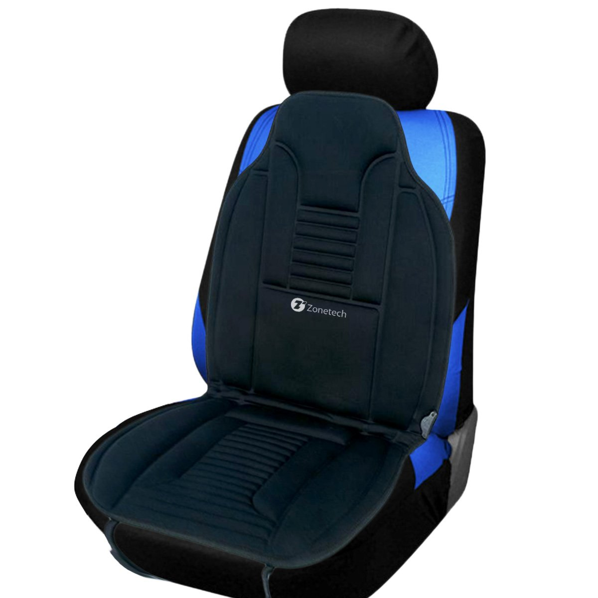 zone tech heated car seat chair cushion 12v heating warmer pad hot cover ebay. Black Bedroom Furniture Sets. Home Design Ideas