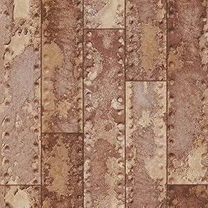 Rasch papier peint textur effet m tal fer faisceau barre - Mur effet metal ...