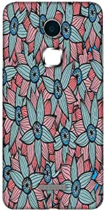 Snoogg abstract floral background Hard Back Case Cover Shield For Coolpad Note 3 (White, 16GB)