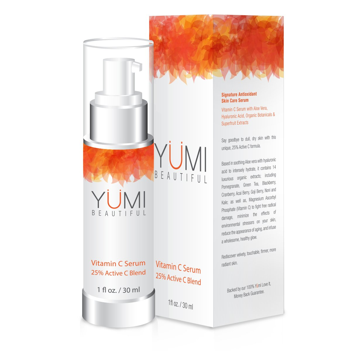 Vitamin C Serum with Aloe Vera, Hyaluronic Acid and 14 Organic Extracts