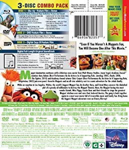 The Muppets (Three-Disc Blu-ray/DVD/Digital Copy ) from Walt Disney Studios