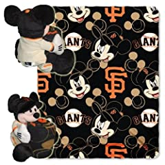 San Francisco Giants MLB Mickey Mouse with Throw Combo by Northwest