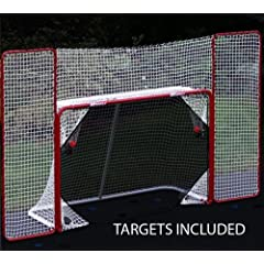 Buy EZGoal Hockey Backstop Kit with Targets, Red White by EZGoal
