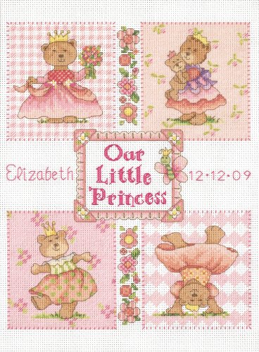 Dimensions Needlecrafts Counted Cross Stitch, Baby Princess Birth Record