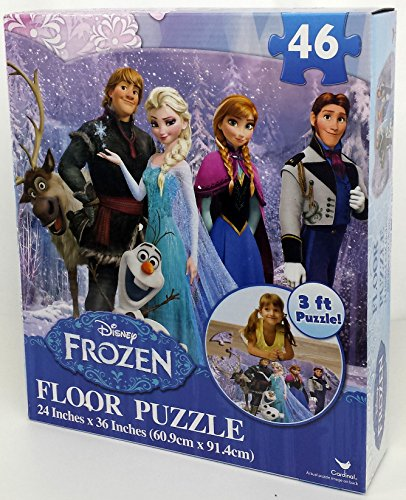 "Disney Frozen Floor Puzzle (46-Piece) 24"" x 36"" Styles Will Vary"