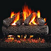 Peterson Real Fyre 24-inch Post Oak Log Set With Vented Natural Gas G4 Burner - Match Light from Peterson Real Fyre