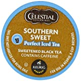 Green Mountain Coffee, Celestial Seasonings Southern Sweet Perfect Iced Tea, K-Cup Portion Pack for Keurig K-Cup...