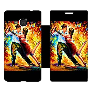 Skintice Designer Flip Cover with Vinyl wrap-around for Samsung Galaxy J3 (2016), Design - Couple Dancing