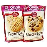 ベティクロッカー クッキーミックス (496g x 2)(チョコレートチップ&ピーナッツバター)2種類セット  Betty Crocker Cookie Mix Chocolate Chip/ Peanut Butter
