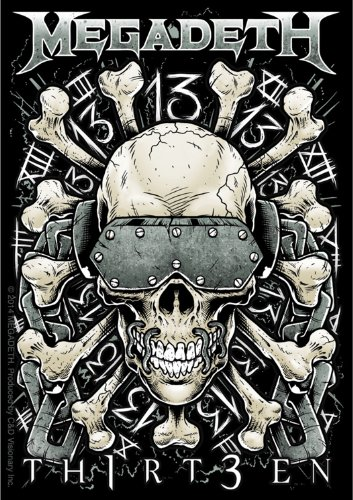 Licenses Products Megadeth Metal Skull 13 Sticker - 1
