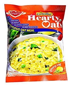 Ecovalley Hearty Oats Lemony Veg, 40g (Pack of 10)