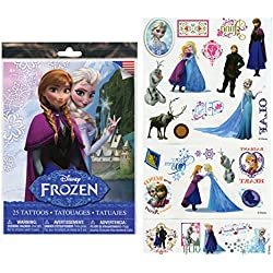 Disney Frozen 25 Tattoos (Includes Princess Anna, Queen Elsa, Olaf, Kristoff and Sven) By Disney