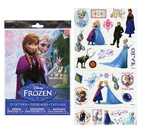 Disney Frozen 25 Tattoos (Includes Princess Anna, Queen Elsa, Olaf, Kristoff and Sven) By Disney - 1