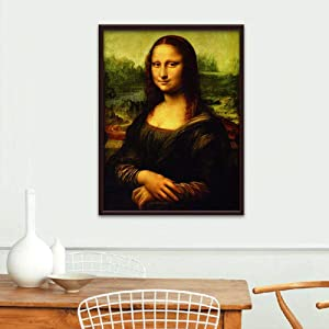 YOMIA DIY Diamond Painting Paint by Number Kits 5D Crystal Diamond Mosaic Painting Rhinestone Embroidery Paint by Number Kits, Mona Lisa (Color: Mona Lisa, Tamaño: M)