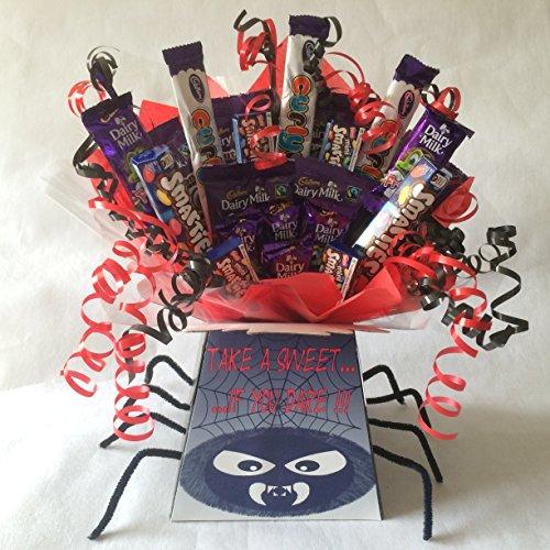 Kids Halloween Spooky Spider Sweet Chocolate Bouquet Hamper