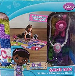 Disney Doc Mcstuffin Game Rug Bonus 5 Pc Doctor Kit