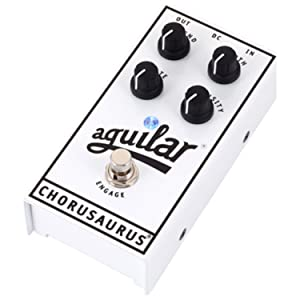 Aguilar Chorusaurus Analog Bass Chorus Pedal w/ 2 Patch Cables (Color: White)
